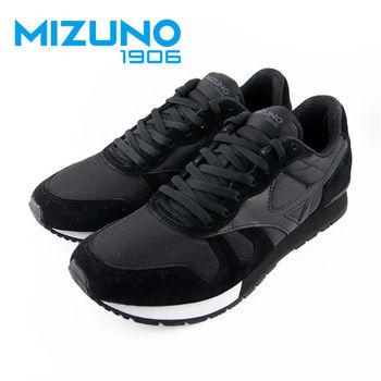 【Mizuno 美津濃】  Mizuno 1906 限量 女休閒款慢跑鞋(黑X白X灰) D1GA160609