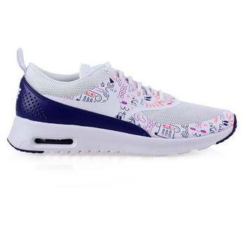 【NIKE】WMNS AIR MAX THEA PRINT 女運動休閒鞋 白紫