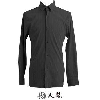 【男人幫】S-3XL主流熟男風情立體穿搭條紋長袖襯衫(S0190)