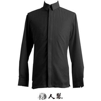 【男人幫】S-3XL上班族萬搭款.立體隱藏扣斜條紋襯衫(S0193)