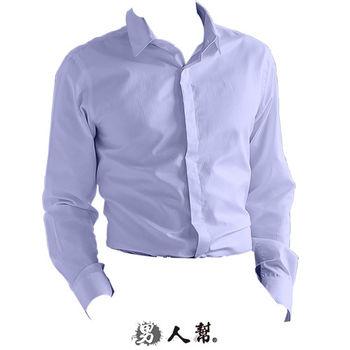 【男人幫】M-3XL上班族修身藏扣直條紋襯衫(S0195)