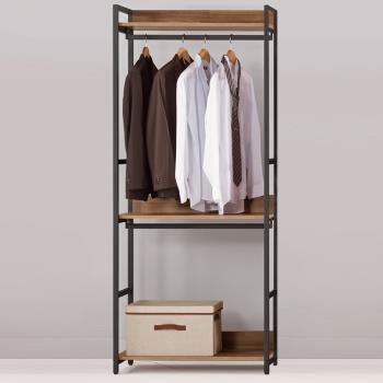 Bernice-諾德2.7尺開放式雙吊衣櫃