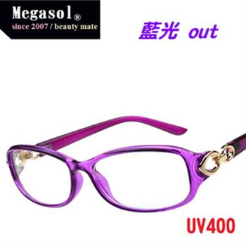 【MEGASOL】藍寶石鍍膜UV400藍光眼鏡多色任選(MS9226)