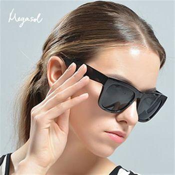 【MEGASOL】復古龐克寶麗萊UV400偏光太陽眼鏡(歐洲精品MS964)