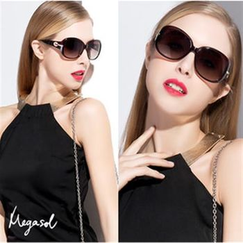 【MEGASOL】寶麗萊UV400偏光太陽眼鏡(設計師晶鑽款MS6214)
