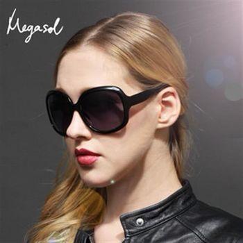 【MEGASOL】DIOR設計師同款寶麗萊UV400偏光太陽眼鏡(MS-3113)