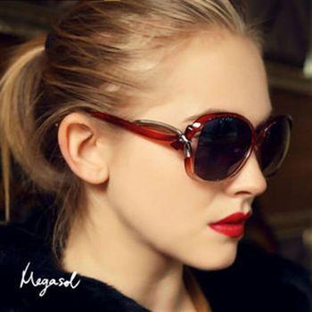 【MEGASOL】寶麗萊UV400偏光太陽眼鏡(蝶翼設計師款MS2229)