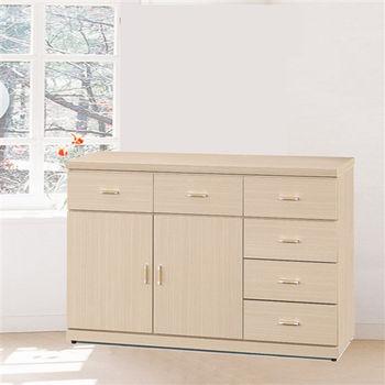 【時尚屋】[5U6]白橡4尺餐櫃5U6-185-7636