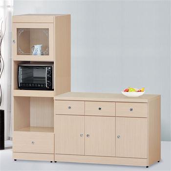 【時尚屋】[5U6]白橡2X6尺餐盤櫃5U6-185-520