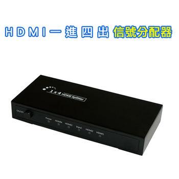 HDMI一進四出信號分配器(HMSP104)