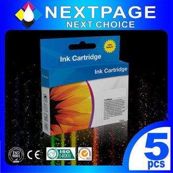 【NEXTPAGE】5入特惠組 CANON PGI-820(黑) + CLI-821(淡黑/紅/黃/藍) 相容墨水匣(For Canon MP540/MP545/MX860)【台灣榮工】
