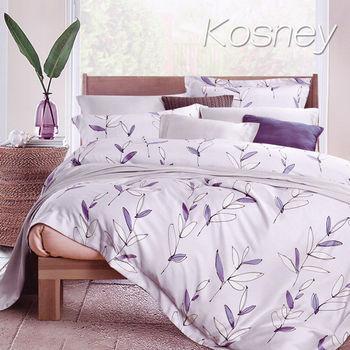 【KOSNEY】原野  加大100%天絲TENCE六件式兩用被床罩組送天絲夏被
