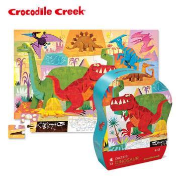 【美國Crocodile Creek】遊樂學習拼圖系列-恐龍世界