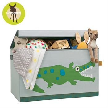 德國Lassig玩具收納箱-小鱷魚