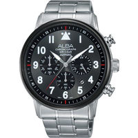 ALBA Prestige 飛行 酷 計時腕錶 ^#45 灰黑 ^#47 44mm VD5