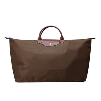 LONGCHAMP 經典LE PLIAGE 系列超大型摺疊旅行/購物袋(大地色)