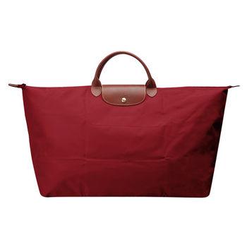 LONGCHAMP 經典LE PLIAGE 系列超大型摺疊旅行/購物袋(酒紅色)