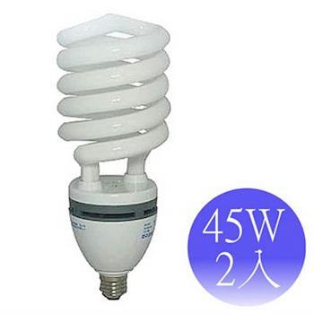 【東亞岱亞】45W 110V E27螺旋省電燈泡-2入(晝/黃)