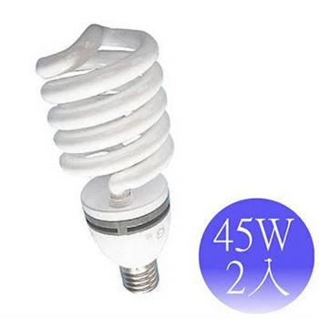 【東亞岱亞】45W 220V E27螺旋省電燈泡-2入(晝/黃)