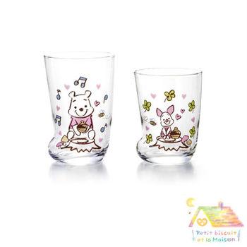 日本製 LOVE&LOVE 維尼與小豬 靴子玻璃杯 對杯/ 親子杯