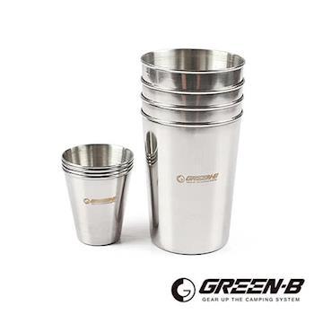 GREEN-B 不鏽鋼杯8件組(附收納包)