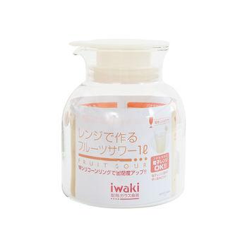 日本Iwaki 玻璃果醋瓶1L