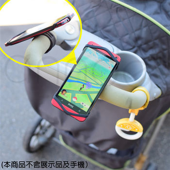 A-IDIO 矽膠萬用型 自行車手機固定架(基本黑/1入)