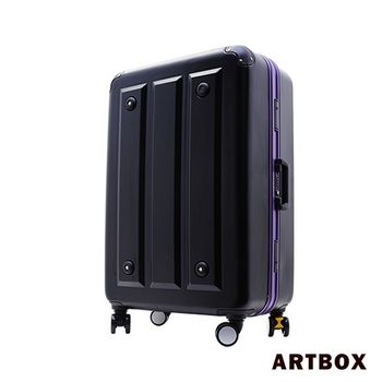 【ARTBOX】暗影獵人-20吋 ABS鑽石紋撞色鋁框行李箱(魅力紫)
