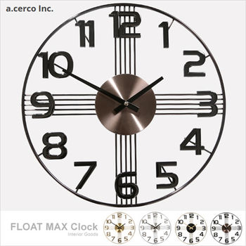 【a.cerco】十字星數字設計鐘 -黑耀石
