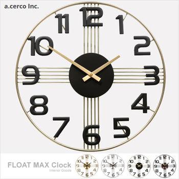 【a.cerco】十字星數字設計鐘 -典雅黑