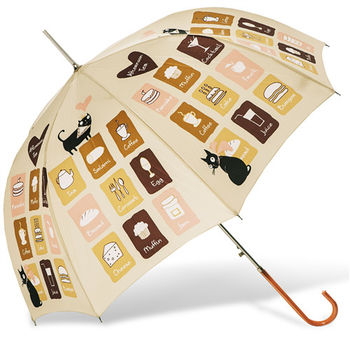 rainstory雨傘-午茶Menu抗UV自動開直骨傘