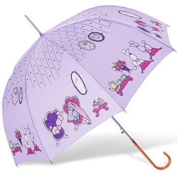rainstory雨傘-貴賓狗午茶抗UV自動開直骨傘