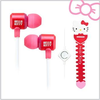 Hello Kitty經典造型線控耳機 (KT-EM12)  絢麗紅