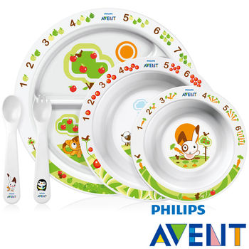 PHILIPS AVENT QQ兔學習餐具組合-6M+