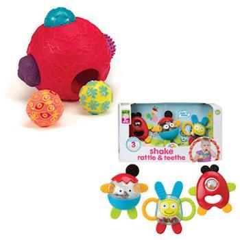 【美國B.Toys】波麗觸覺感統球組+【美國ALEX】麥斯和它的朋友們