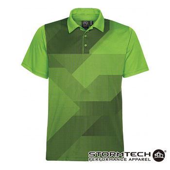 【加拿大STORMTECH】ETX-1跨界H2X吸排瞬乾抗UV疊影POLO衫-男(綠) 通路獨賣