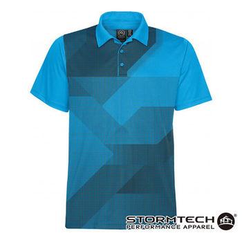 【加拿大STORMTECH】ETX-1跨界H2X吸排瞬乾抗UV疊影POLO衫-男(藍) 通路獨賣