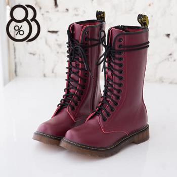 【88%】超耐磨牛津透明底14孔真皮馬汀靴馬丁鞋 2色