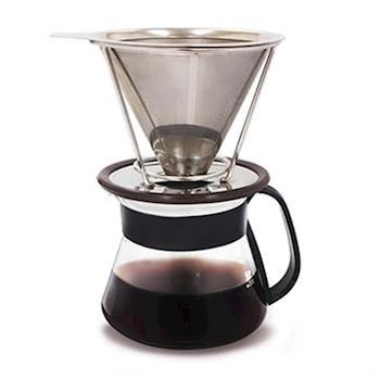 Hiles手沖不鏽鋼濾杯組(濾杯+咖啡壺)