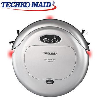 美國Techko Maid 聰明管家 四合一掃地機器人 RV668 銀色