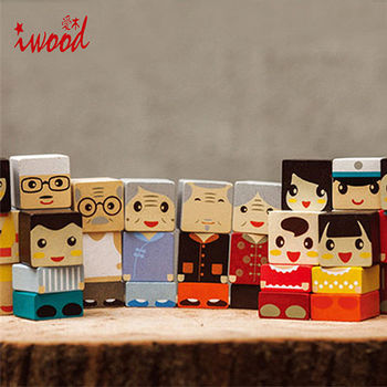 《iwood》家人積木 | Family Blocks