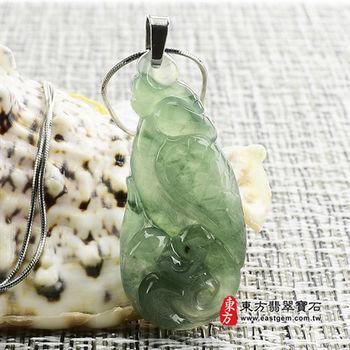 【東方翡翠寶石】鸚鵡(英武不凡) A貨翡翠玉墜花件(油青糯種)BI016