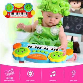 小小音樂家寶寶趣味拍拍鼓+電子琴