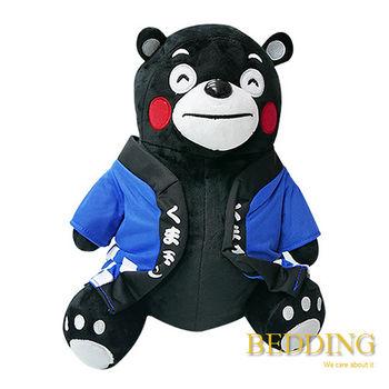 BEDDING 【坐姿熊本熊-藍】 30CM  可愛抱枕 玩偶