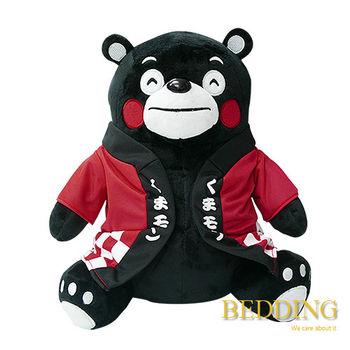 BEDDING 【坐姿熊本熊-紅】 30CM  可愛抱枕 玩偶