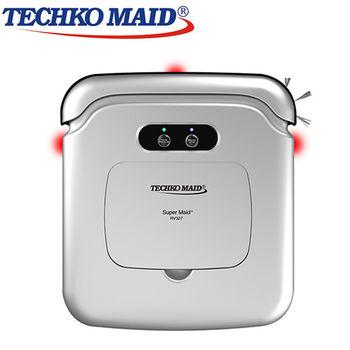 美國Techko Maid 聰明管家 強力拖地吸塵機器人 RV327 銀色