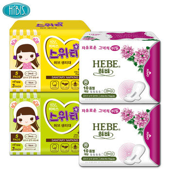 HIBIS木槿花草本衛生棉-負離子日用甜心4件組