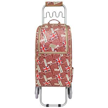 卡蘿輕便時尚購物車-36L波浪三輪-英國旗紅-復古風