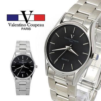 【Valentino范倫鐵諾】不鏽鋼時尚經典手腕錶(黑色)