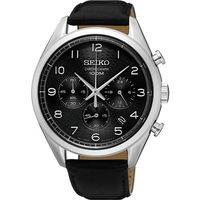 SEIKO CS系列都會計時腕錶 ^#45 黑 ^#47 42mm 8T63 ^#45 0